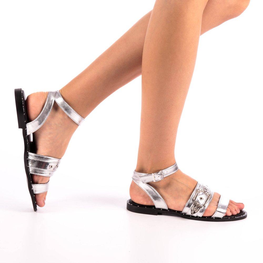 Sandale dama Jain argintii